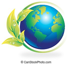 Environment, illustration - Environment, earth surrounded by...