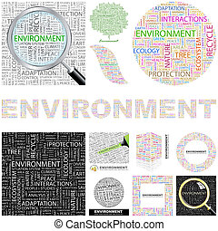 environment., pojęcie, illustration.