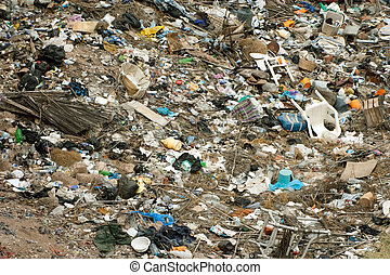 environment pollution - important nature trash pollution...