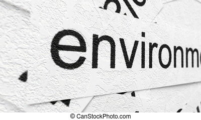 Environment tag on word cloud