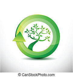 environment tree eco friendly concept