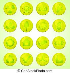 Environment vector icons set