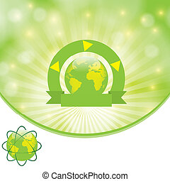Environmental background green Template