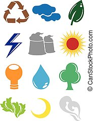 Environmental Conservation Icons - A set of 2D Environmental...