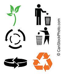 Environmental conservation symbols