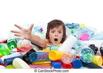 Environmental disaster concept