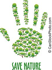 Environmental ecology protection poster