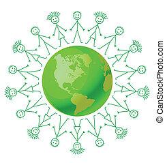 Environmental green earth