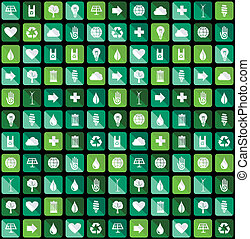 Environmental Green flat icons