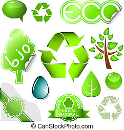 Environmental icons - Vector set of environmental icons and...