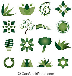 Environmental icons - Sixteen different environmental icons