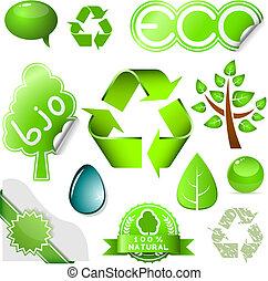 Environmental icons - Vector set of environmental icons and...