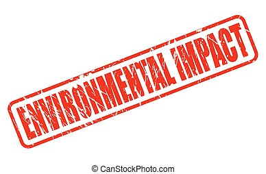 ENVIRONMENTAL IMPACT red stamp text