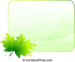 environmental konzerválás, zöld háttér