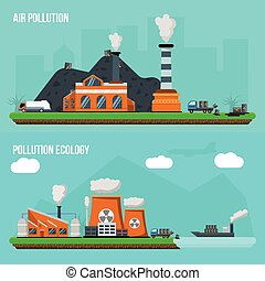 Environmental Pollution Banner Set