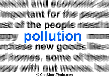 environmental pollution - environment pollution concept with...
