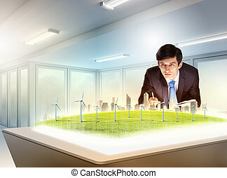 Environmental problems and high-tech innovations - Image of...