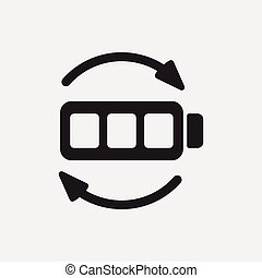 Environmental protection concept battery icon