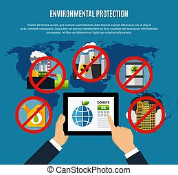 Environmental Protection Concept - Environmental protection ...