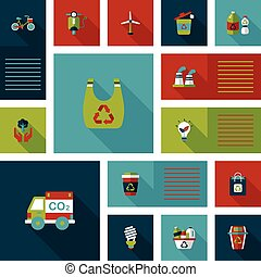 Environmental protection concept flat ui background,eps10
