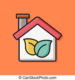 Environmental protection concept greenhouses icon
