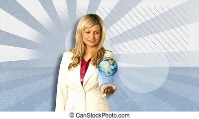Environmental protection concept - Animated environmental...