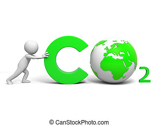Environmental protection - A people in pushing the CO2...