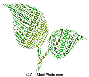 Environmental Protection Shows Eco Friendly And Words -...