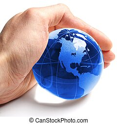 environmental protection or eco concept with world in a hand...