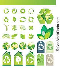 environmental / recycling icons