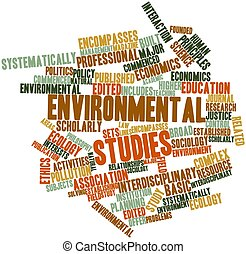 Environmental studies - Abstract word cloud for...