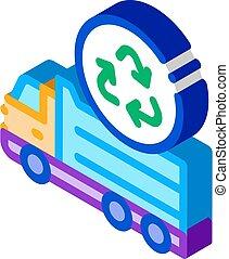 environmental truck isometric icon vector illustration