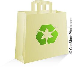 Environmentally friendly bag - Shopping bag, vector,...