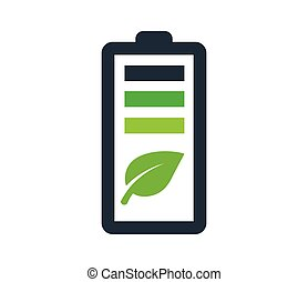 Environmentally Friendly Battery Logo Concept Design