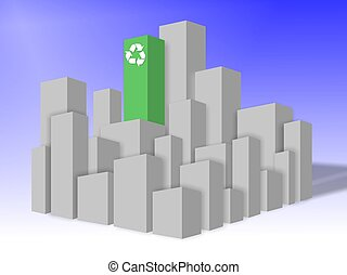 Environmentally friendly building - A green building in the...