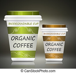 Environmentally friendly coffee. - Illustration depicting...