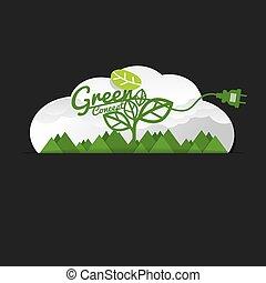 Environmentally Friendly Green Concept Vector Illustration