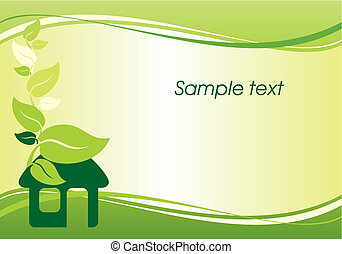 environmentally housing - vector background with the image ...
