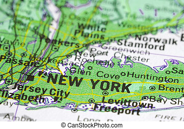 new york - environmentaly green new york  map concept