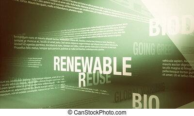 environment/green, relatado, palavras