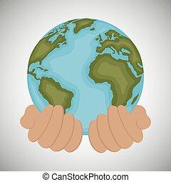 environnement, écologie, conception, icône