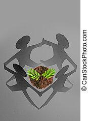 environnement, concept, sauver