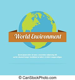environnement, la terre, mot, jour, fond