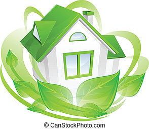 environnement, maison, concept