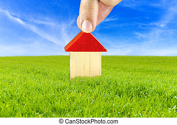environnement, maison, sûr, plan, propre