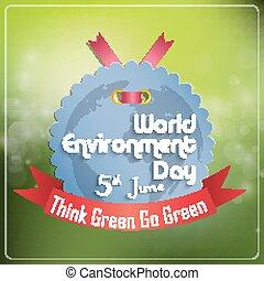 environnement, mondiale, concept, jour, gris