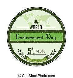 environnement, mondiale, jour, fond
