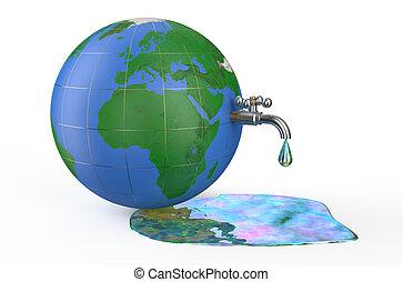 environnement, pollution, concept