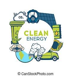 environnement, recyclage, énergie, gaspillage, vert, propre