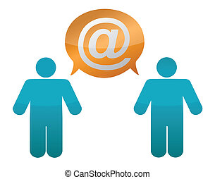 envoi, autre, courrier, gens